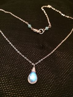 Moonstone Necklace /Sterling Silver Moonstone by JewelsandJules