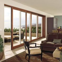 Big sliding glass doors