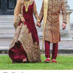 Wedding indian dress men bridal lehenga ideas for 2019 Indian Bridal Outfits, Pakistani Wedding Dresses, Indian Dresses, Wedding Hijab Styles, Pakistani Wedding Photography, Punjabi Wedding, Couple Wedding Dress, Wedding Sherwani, Mens Sherwani