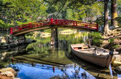 """Red Garden Bridge"" by Justin Orr on 500px"