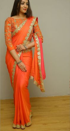 End Customization with Hand Embroidery & beautiful Zardosi Art by Expert & Experienced Artist That reflect in Blouse , Lehenga & Sarees Designer creativity that will sunshine You & your Party. Designer Blouse Patterns, Saree Blouse Patterns, Design Patterns, Fancy Blouse Designs, Sari Blouse Designs, Latest Saree Blouse, Indian Bridal Fashion, Stylish Sarees, Saree Look