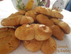 Greek Sweets, Greek Desserts, Greek Recipes, Fun Desserts, Best Dessert Recipes, Cookie Recipes, Food Network Recipes, Food Processor Recipes, Greek Cookies