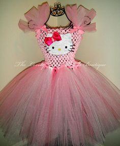 229d8c0dc19e7 Hello Kitty Tutu Dress by lovelylittlethings1 on Etsy... Hello Kitty Tutu