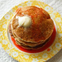 gluten free, vegan pancakes  1 2/3 cup soy or rice milk   6 tbsp. vegetable oil   2 tbsp. water   1 cup mashed ripe bananas (about 2)   2 cups gluten-free flour blend   2 tbsp. granulated sugar or brown sugar   1 tbsp. baking powder   1/4 tsp. salt