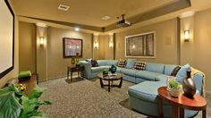 Start a #family #movie #night tradition in your #media #room at Long Meadow Farms. #home #theater