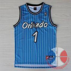 maillot de basket pas cher Orlando Magic Hardaway #1 Bleu mesh tissu