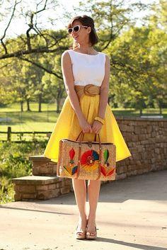 レトロでかわいいかごバッグのコーデ♡真似したいスタイル・ファッション♪