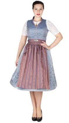 15992 Tramontana 70er Dirndl blau altrosa Tulle, Skirts, Vintage, Fashion, Dirndl Blouse, Dusty Pink, Tops, Handarbeit, Blue