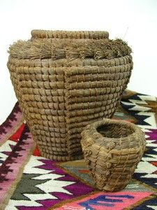 Vintage Large Native American Indian Pine Needle Basket | eBay
