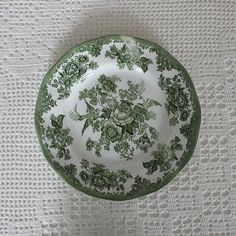 Vintage plate 10 green pattern Oriental Pheasants & 3 rare 80 years old cake plates PARAGON China England | Vintage ...