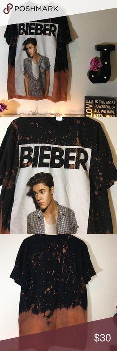 Justin Bieber Acid Washed T-shirt ❗️ Acid washed to perfection❗️ Shirts Tees - Short Sleeve
