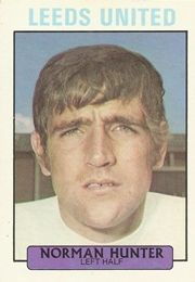 NORMAN HUNTER 1971-72 LEEDS UNITED Norman Hunter, Leeds United Football, Football Fans, The Unit, Trading Cards
