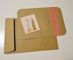 DIY verjaardagkaartjes gemaakt van bruin diy kaartensetje