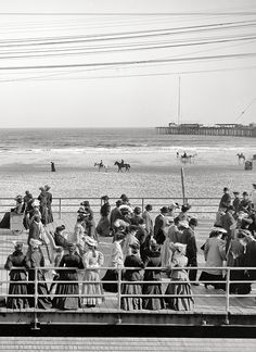 The Jersey Shore circa 1905. Along the beach, Atlantic City, N.J.