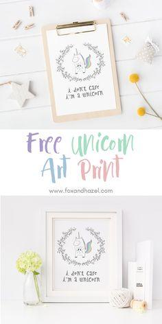 Free Unicorn Art Print