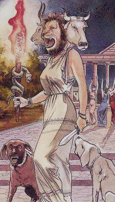 XV. The Devil ( Hecate) - The Olympus Tarot by Luca Raimondo