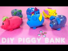 DIY Miniature Doll Piggy Banks - YouTube