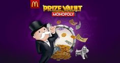 I'm playing McDonald's Prize Vault Monopoly!