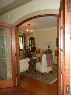 Love french doors and arches doorway French Doors Patio, Patio Doors, Arched Doors, Windows And Doors, French Arch, Door Design, House Design, Arch Doorway, Door Window Treatments