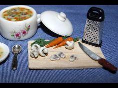 "Кукольная миниатюра ""Варим суп"" / Dollhouse miniature ""Cook the soup"" - YouTube"