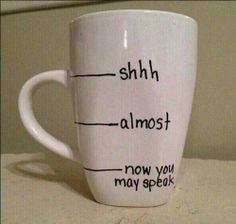 the perfect Monday morning coffee cup.diy sharpie mug My Coffee, Coffee Cups, Morning Coffee, Coffee Break, Coffee Time, Drink Coffee, Monday Coffee, Coffee Works, Coffee Today