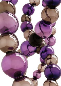 Strand of #purple and #brown glass beads