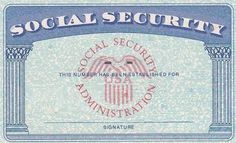 Social Security Card - Social Security if still working