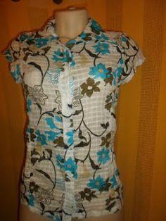Brecho Online - Belas Roupas: Blusa Floral Azul