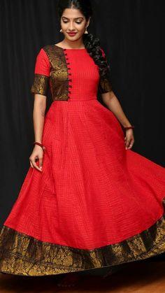 Silk Kurti Designs, Half Saree Designs, Choli Designs, Latest Dress Patterns, Kids Dress Patterns, Party Wear Long Gowns, Designer Party Wear Dresses, Long African Dresses, Indian Gowns Dresses