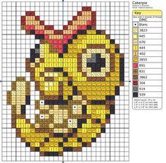 10 - Caterpie - Shiny by Makibird-Stitching.deviantart.com on @DeviantArt