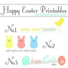 Happy Easter Printables - 40 Crafty Easter Printables for Perfect Holiday Projects