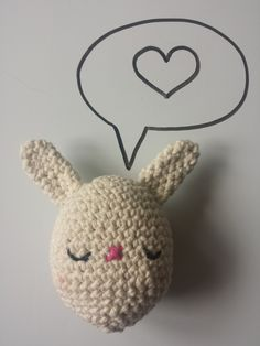 Crochet stuffed Bunny Egg toy, in 100% Cotton, Natural Cream, Available in other colours by CroShellbyshelley on Etsy