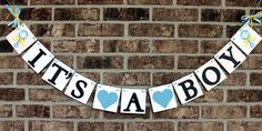 ITS A BOY BANNER for Baby Shower Photo Prop by BannerSpecialties, $20.00