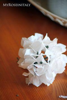 My RoseinItaly: Ortensia di carta crespa