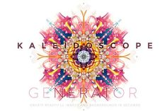 Kaleidoscope Generator PHOTOSHOP by Lazymau on @creativemarket