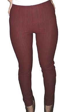 Dona Michi Hot New Basic High Waist Womens Skinny Jeans Jeggings_Burgundy * To view further for this item, visit the affiliate link Amazon.com.