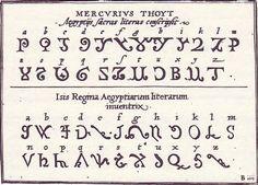 'Egyptian' alphabet from Johann Theodor and Johann Israel de Bry's 1596 'Alphabeta et Characteres.'