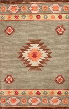 Rugs USA Savanna Southwestern VE04 Beige Rug South West, aztec, style, pattern, modern, area rugs, home decor, interior design, style, interior design.