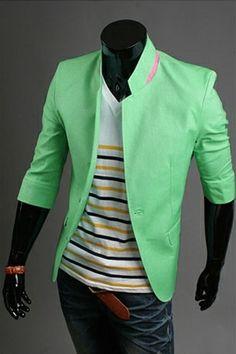 Colourful Men Blazer- $52.00 Shop now on www.instylook.com