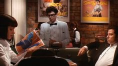 """At Jack Rabbit Slim's, Mia orders a $5 milkshake. Buddy Holly, played by Steve Buscemi, asks her if she wants it """"Martin & Lewis or Amos & Andy."""" The first pair is a reference to Dean Martin and Jerry Lewis, two white men, so that's a vanilla shake. Amos & Andy is a reference to the radio and television program about two African Americans, so that's a chocolate shake. Mia orders a Martin & Lewis, and she gets vanilla."""