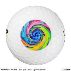 Abstract 4 Wilson Ultra 500 Distance Golf Ball Pack Of Golf Balls