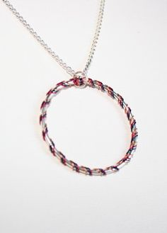 Hula Hoop Necklace  Pick Your Tape Colors by Exaltation on Etsy, $24.00