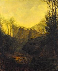 John Atkinson Grimshaw - A Manor House in Autumn, 1881