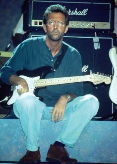 Eric Clapton ~ When I get to Heaven I'll ask THE LORD for TWO THINGS (1) A Red & Gold Strat (2) The Talent to play Like Eric Clapton. Eric Clapton, Sound Of Music, Music Is Life, My Music, Tears In Heaven, The Yardbirds, Blind Faith, Jazz Blues, Rock Legends