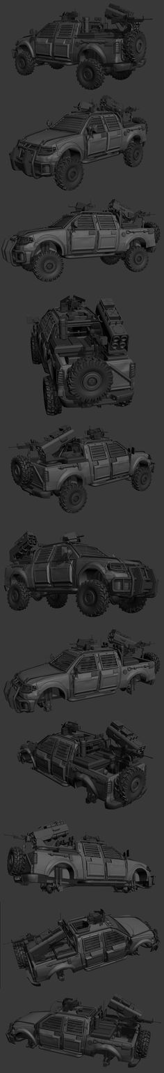 Ravaged Vehicle (new vehicle sample) - Page 3 - Polycount Forum
