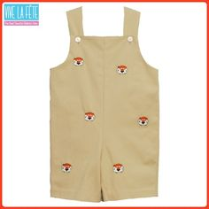 0951453cc0ab Auburn Tigers Embroidered John Johns   Shortalls by Vive La Fete!