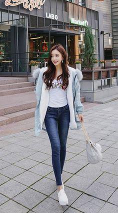 Cute fashion, casual asian fashion, korean fashion, girl fashion, f Korean Fashion Teen, Korean Fashion Ulzzang, Korean Fashion Street Casual, Korean Casual, Korean Fashion Winter, Cute Fashion, Girl Fashion, Fashion Outfits, Womens Fashion
