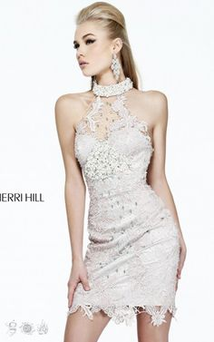 Sherri Hill 9801 Sheer Lace DressOutlet