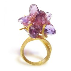 18ct Gold, Amethyst, Pink Tourmaline | Ring – donnabrennan.co.uk