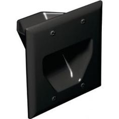 DataComm Electronics - Recessed Cable Plate (Black) Recessed cable plate 2 gang Used to install low-voltage cables behind flat panel TVs, amps or other A Birthday Wishlist, Birthday List, Gadget World, Flat Panel Tv, Cable Management, Mounting Brackets, Plates On Wall, Body Shapes, Science Nature